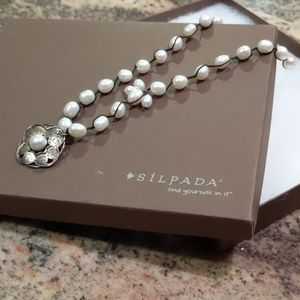 Silpada Sterling Silver and Pearl Necklace